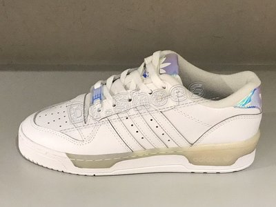 【Dr.Shoes 】Adidas Rivalry Low 女鞋 白鏡面 皮革 復古 滑板鞋 休閒鞋 EE5935