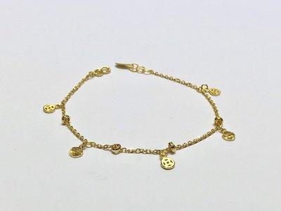 【JHT 金宏總珠寶/GIA鑽石】1.01錢/17.5cm 黃金手鍊 (請詳閱商品描述)