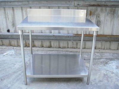 3尺3白鐵工作桌             304厚料手工訂製        無木板夾層