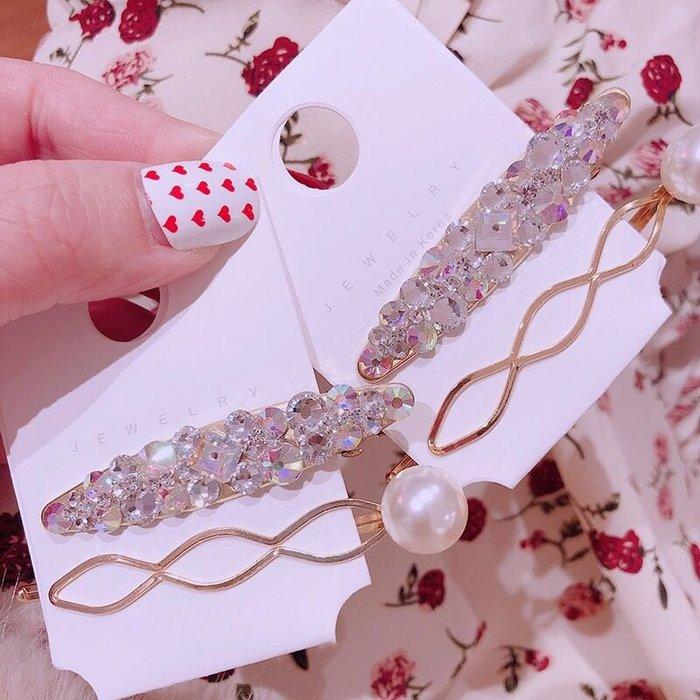 ☆║♥愷心小舖♥║☆韓國連線 東大門 珍珠 復古一字夾 花朵