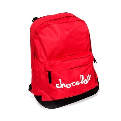 Chocolate Chunk Simple Backpack - Red  滑板包 公司價2300