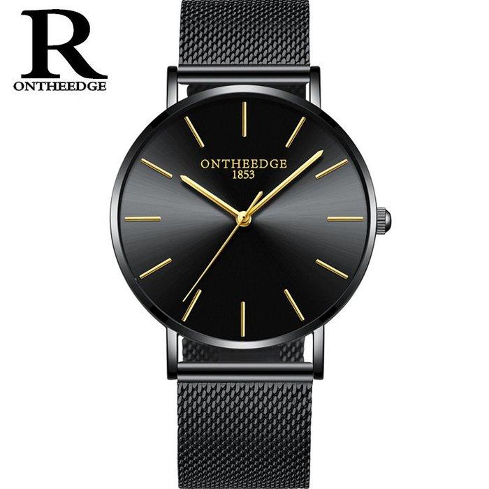 腕錶男士網帶石英手錶情侶防水簡潔女錶