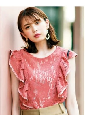【WildLady】 特 日本甜美荷葉花邊精美上衣 蕾絲衫snide* mina