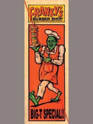 (I LOVE樂多)日本wombiezombie Jack-O' FRANKY'S BURGER 海報 刺青 藝術 裝飾