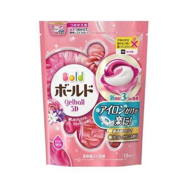 日本 P&G洗衣膠球補充包(18入)花香 雜誌推薦 日本洗衣球 日本洗衣膠球 淡雅花香(單買本商品不支援三千免運)