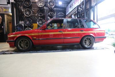 黃帝的店~BMW 經典E30 320 330進化 BC 15吋鍛造訂製鋁圈~卡鉗改色~HARTGE大包