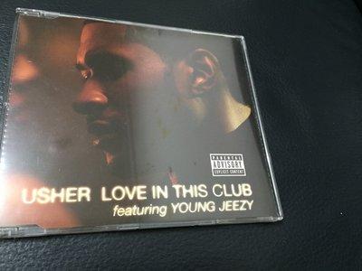 二手CD 亞瑟小子 Usher love in this club Featuring young jeezy 單曲RK