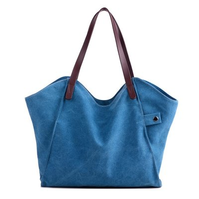 手提包帆布肩背包-簡約實用柔軟純色女包包4色73wa14[獨家進口][米蘭精品]