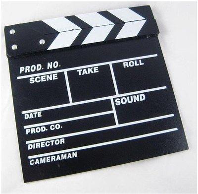 =F&S雜貨森林= 導演板 攝影道具 裝飾黑板 木制電影場記板 小號 婚禮佈置 情人節 聖誔節 畢業禮物現貨