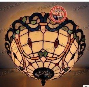 {美學}蒂凡尼(帝凡尼)燈飾 客廳餐廳過道 16寸巴洛克吸頂燈MX-2099