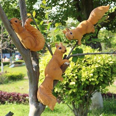 仿真松鼠雕塑戶外園林景觀花園裝飾庭院公園玻璃鋼動物幼兒園擺件小豬佩奇