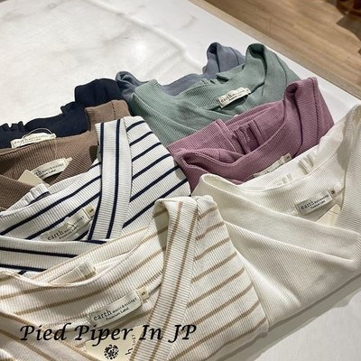 Pied Piper日本代購 CS087 earth music&ecology多色系V領羅紋T恤