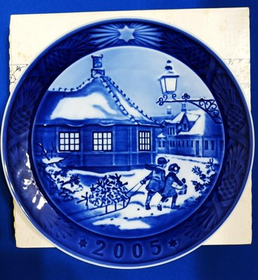 Royal copenhagen 2005年度盤-安徒生的家