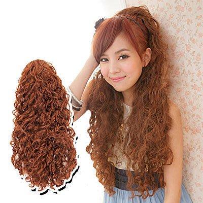 ☆雙兒網☆假髮量多耐熱纖維材質華麗髮包【MF004】髮包式QQ玉米捲超長雨絲頭