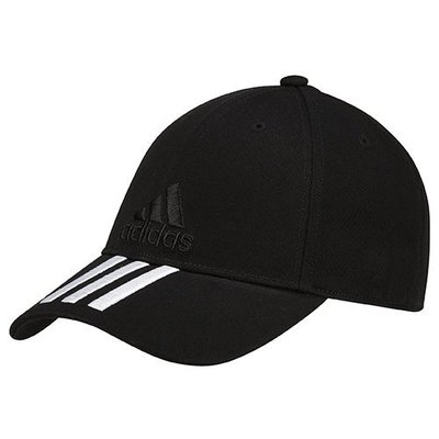 【鞋印良品】adidas 愛迪達 三條線 棒球帽 BK0806 老帽 彎帽 運動帽 電繡Logo 可調整 另有藍白2款