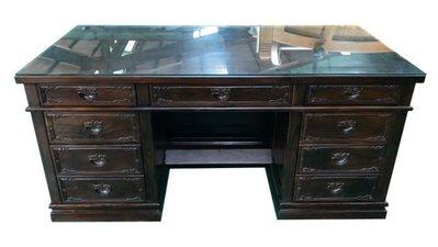 樂居二手家具生活館(中) 台中全新中古傢俱買賣 ZM122302*雞翅木主管桌 辦公桌*2手桌椅 餐桌 會議桌 辦公桌