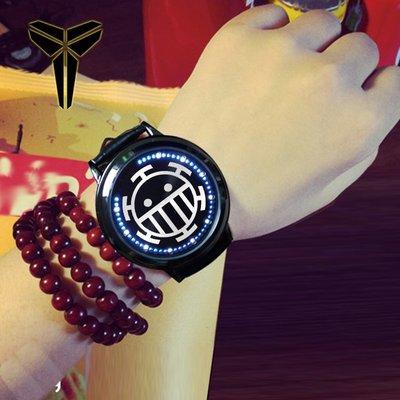 手錶 海賊王特拉法爾加羅同款定制led觸摸屏防水手表男女學生動漫周邊
