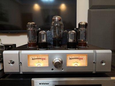 限量設計版EL34單端A類10W真空管擴大機,可預約試聽。