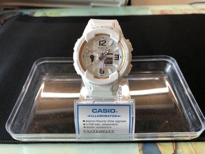 &便宜亂賣小舖& 流行錶 G-SHOCK BABY-G 卡西歐 二手 少女時代聯名款 錶背後有簽名 BGA-230GGB
