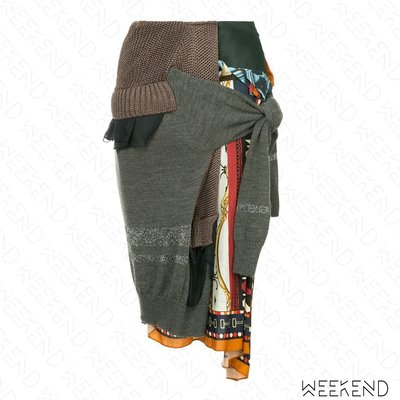 【WEEKEND】 KOLOR 異材質 拼接 半身裙 多色