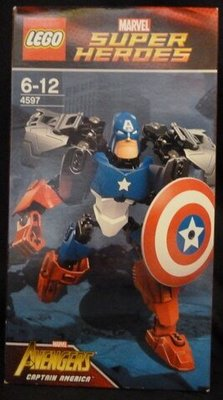 (N)開封品 盒有損壞 內袋未開 Lego 4597 Captain America 美國隊長 Buildable Figures Super Heroes