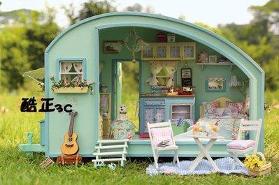 【酷正3C】DIY小屋 袖珍屋 娃娃屋 手工藝 模型屋 禮物 A016大篷車 時光之旅