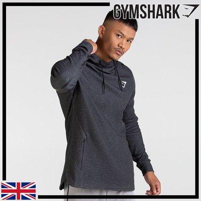 GYMSHARK TAKE OVER PULLOVER 時尚舒適棉質連帽衫-黑