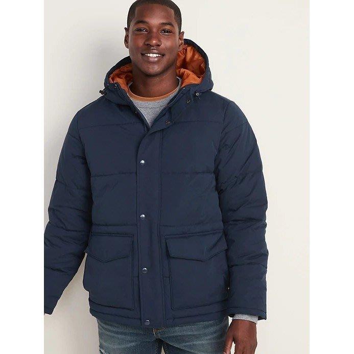 【現貨 S M L XL 2XL 3XL】 Old Navy 時尚保暖舒適連帽外套 防風防寒防水連帽夾克