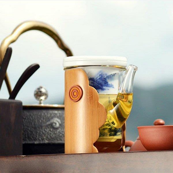 5Cgo【茗道】含稅會員有優惠 40277954594 功夫茶具茶壺公道杯青花瓷內膽紅茶器泡茶器花草茶具耐熱玻璃茶道