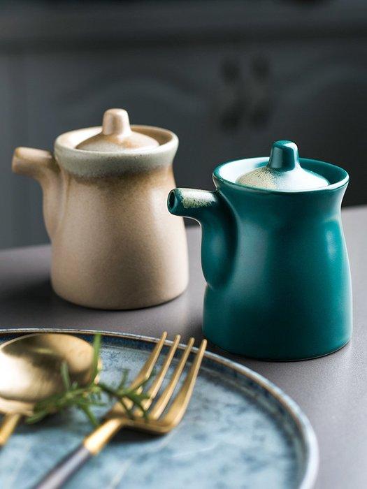 衣萊時尚-瓷彩美 日式窯變釉陶瓷調料壺油壺醋壺餐廳調味壺油瓶醬油調味瓶