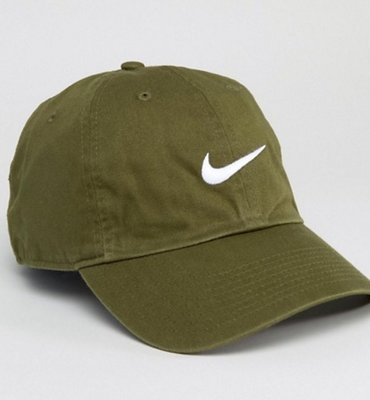 Nike Swoosh old school Cap in Green 軍綠 老帽  穿搭 夏天 夏日 春夏