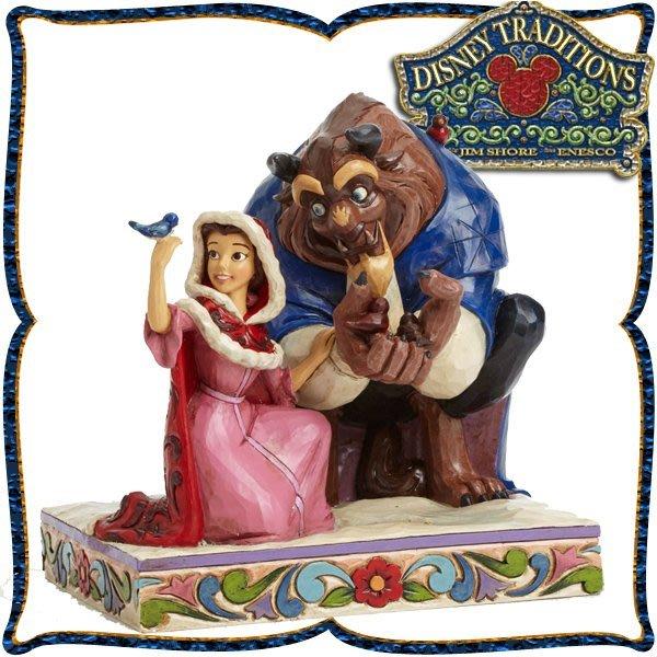 ♥心樂格格♥♫Disney Traditions  迪士尼 [美女與野獸 木雕風景品 模型 禮品]全新美版稀有品~