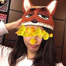 【一元起標無底價】購於美國LA  迪士尼 動物方城市 狐狸Nick尼克毛線帽毛帽 全新 大童小孩變裝萬聖節派對聖誕節禮物