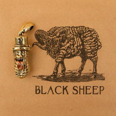 黑羊選物 /最新款 吐舌花生人 同jeff decker  peanut&co款 黃銅 鑰匙圈 余文樂 潮流款