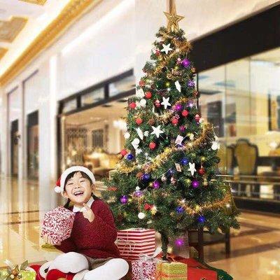 ~圣誕樹豪華加密套餐0.6/0.9/1.2米場景布置圣誕酒吧節日裝飾品