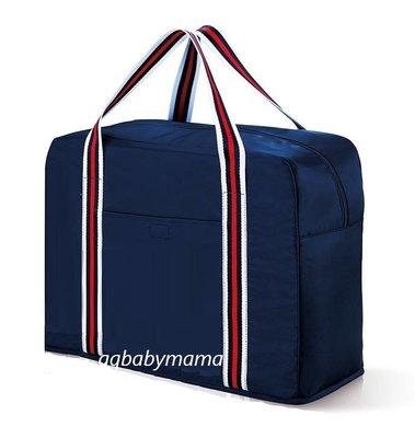 【Q寶媽】ALBION艾倫比亞 日式簡約可摺疊收納旅行袋 可放行李箱拉桿 全新專櫃貨 中文標籤