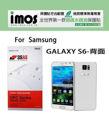 iMos Samsung GALAXY S6 超抗 潑水 疏油效果 保護貼背面 背貼 背面保護膜