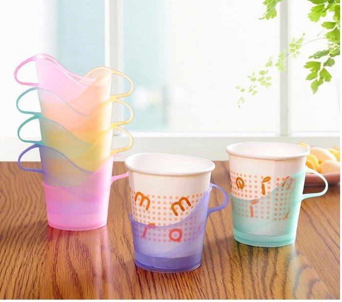 一次性纸杯托 杯子托 塑料杯托 杯子杯托 隔热杯架 杯套纸杯架 塑料杯托 不挑色