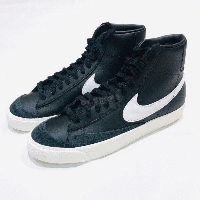 【Dr.Shoes 】Nike Blazer Mid 77 黑色 復古 高筒 荔枝皮 奶油底 男鞋 BQ6806-002