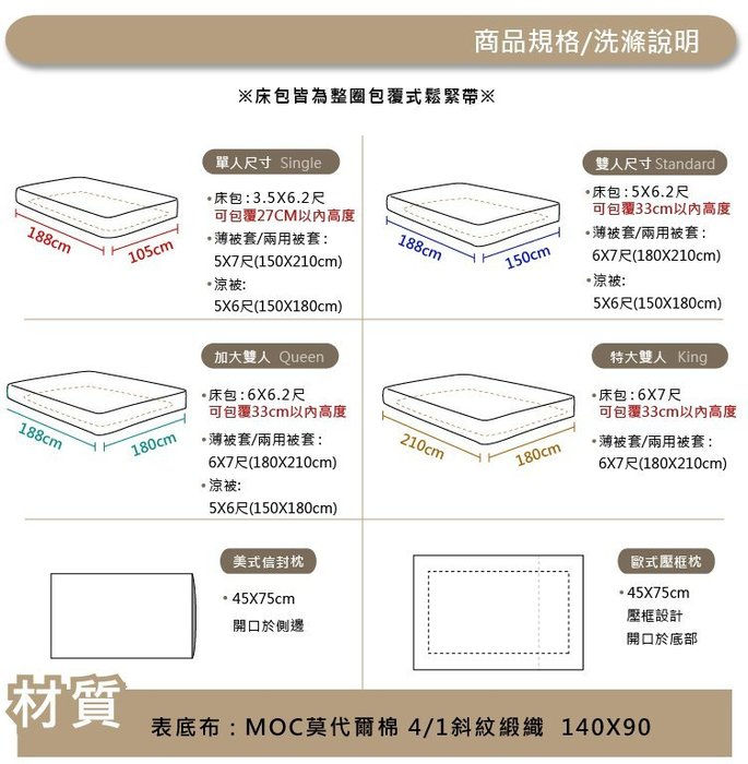 【OLIVIA 】OL5000 淺藍X深藍 史丹利  標準雙人床包兩用被套四件組  MOC莫代爾棉 台灣製