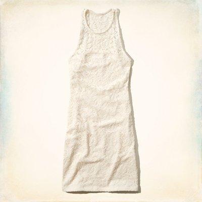 【天普小棧】HOLLISTER Ramona Lace Bodycon Dress氣質蕾絲洋裝M號