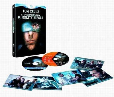 【BD藍光】關鍵報告:雙碟限量鐵盒板+5張明信片Minority Report (英文字幕) 不可能的任務 湯姆克魯斯