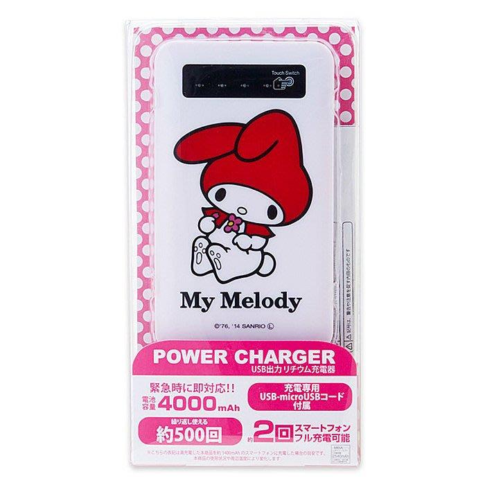 *Miki日本小舖*日本帶回三麗鷗Melody美樂蒂輕薄行動電源
