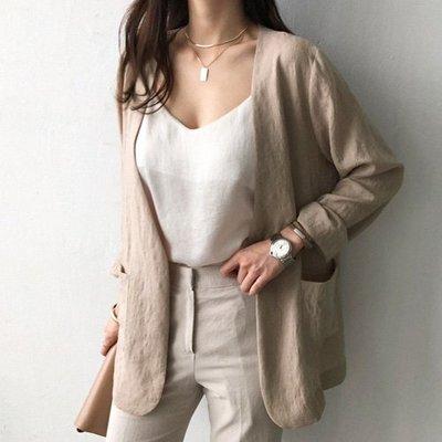 棉麻外套 正韓 與眾不同就靠這件西裝外套 艾爾莎 【TLS00325】