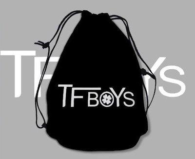 TFBOYS明星周邊 雙肩束口袋 束口布袋 卡通束口背包 兒童背包 書包