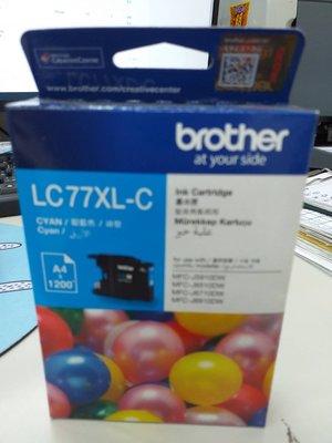 呈運Brother LC77XL/LC77XL 藍色原廠超大容量墨水匣 適用:MFC-J5910/J6710/J6910