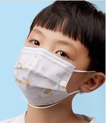 兒童白色印花口罩現貨50入 非醫療用 三層式口罩內含熔噴布 非台灣製 盒裝 家用口罩 防飛沫一次性口罩  進口口罩 每片