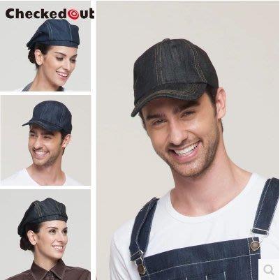 牛仔工作帽 廚師帽 男女酒店工作帽服務員帽子 精品貝雷帽棒球帽 4色【YK348】