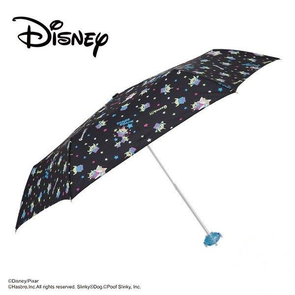 迪士尼Disney《現貨》日本小川~玩具總動員三眼怪~雨晴兼用 UV加工 手開折傘 雨傘 女傘~日本正品~心心小舖