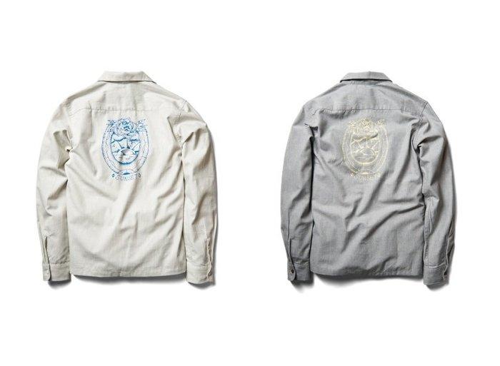 { POISON } RETRODANDY SUNSET SHIRT 品牌LOGO馬蹄主題 薄型工作外套襯衫